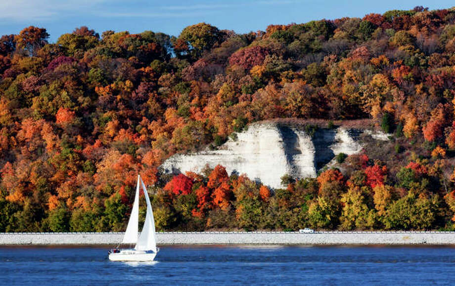 The bluffs overlook the Great River Road. Photo:       For The Telegraph