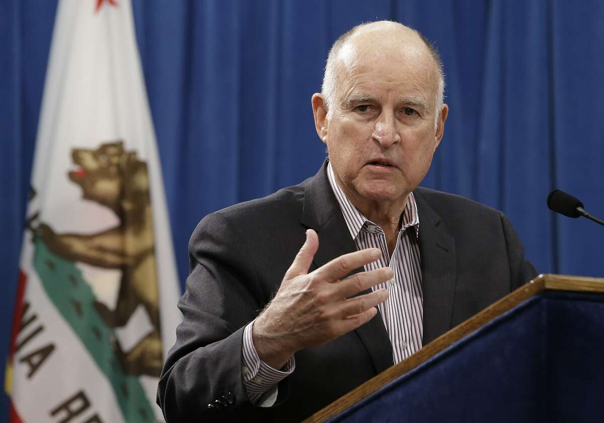 Gov. Jerry Brown discusses his revised 2018-19 state budget at a Capitol news conference Friday, May 11, 2018, in Sacramento, Calif. Brown proposed a $137.6 billion general fund budget, up nearly $6 billion from his earlier proposal in January. (AP Photo/Rich Pedroncelli)