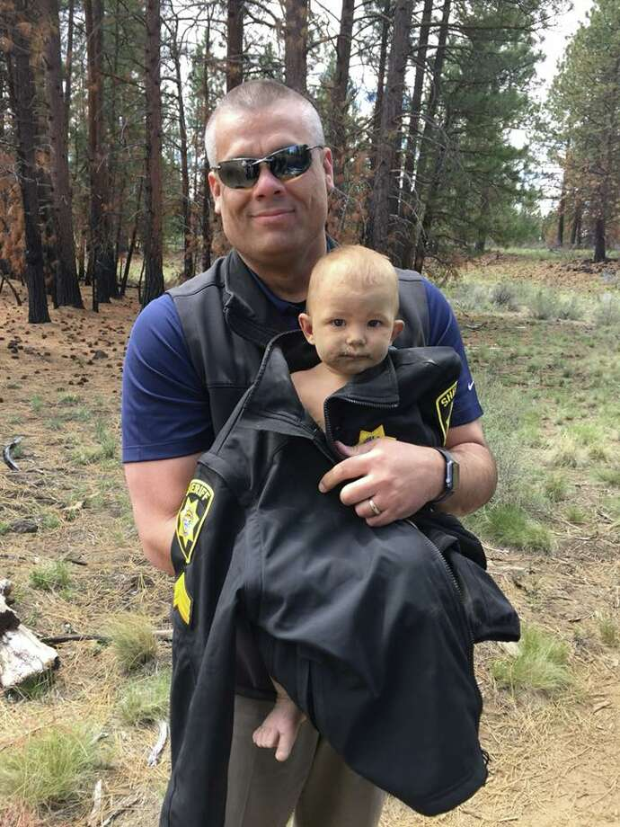 The Deschutes County Sheriff's Office says it has received donations of clothing, diapers, toys and other goods after the rescue of a 1-year-old boy from the woods of Central Oregon. Photo: Deschutes County Sheriff's Office/Handout