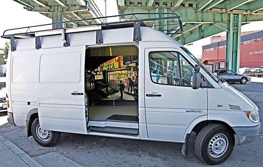 Artist Seth Tane's van, burglarized in a few minutes. Photo: Seth Tane