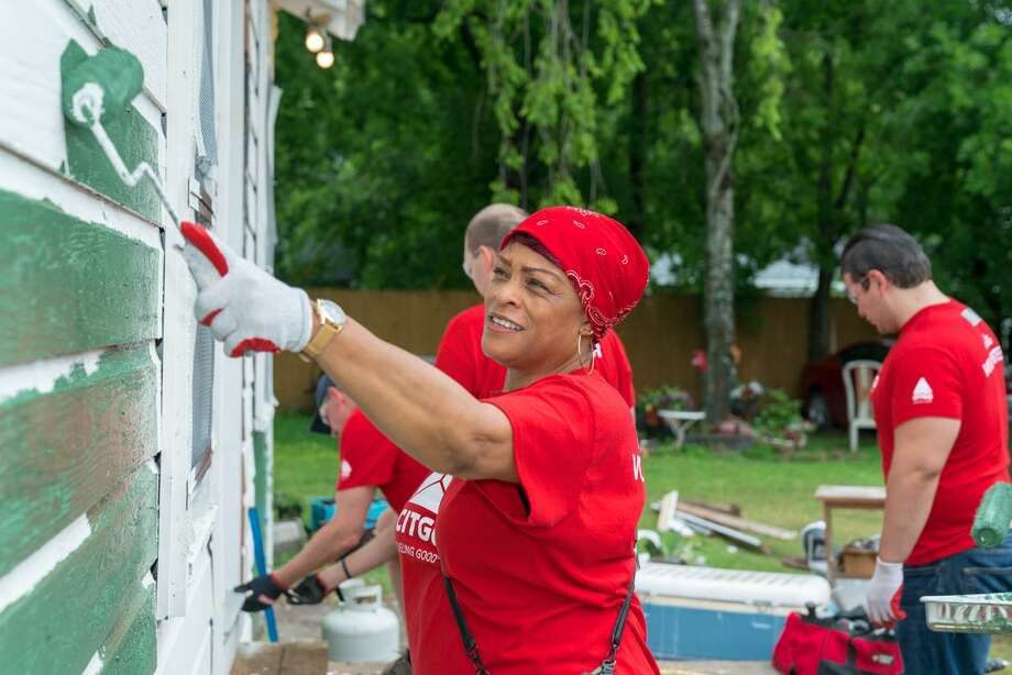 Fifteen CITGO employees worked May 5 to rebuild a house in Independence Heights. The oil company and Rebuilding Together Houston plan to repair 300 homes that were impacted by Hurricane Harvey over the next three years. Photo: Courtesy Photo