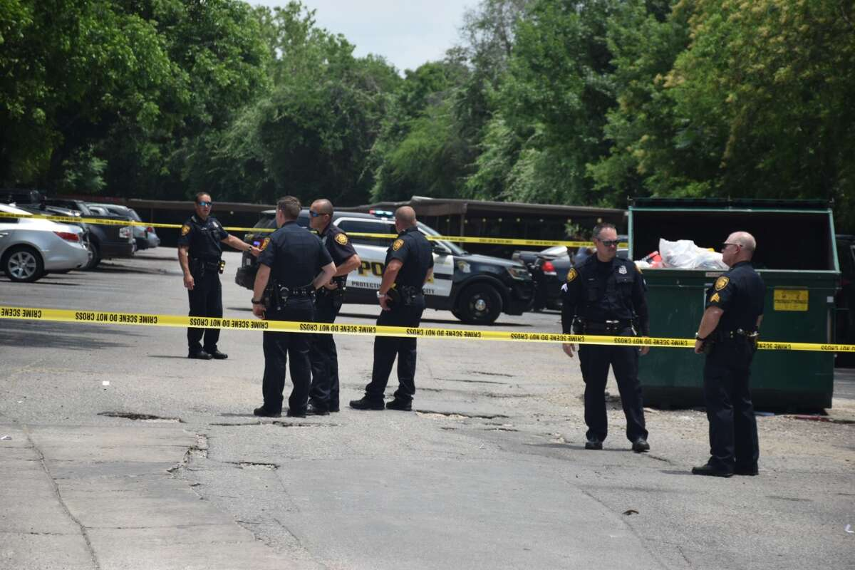 San Antonio police area responding to a shooting at an apartment complex in the 1900 block of Northeast Loop 410 on Monday, May 14, 2018.
