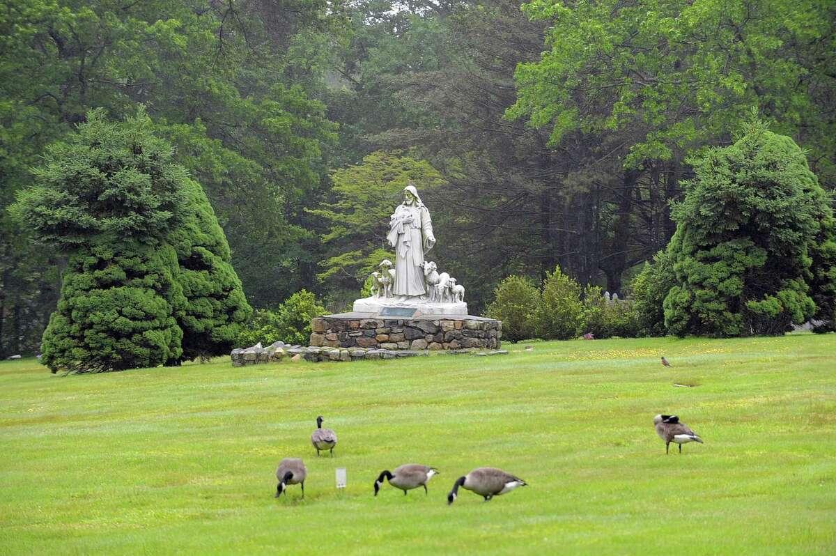 FILE PHOTO: Fairfield Memorial Park cemetery in Stamford