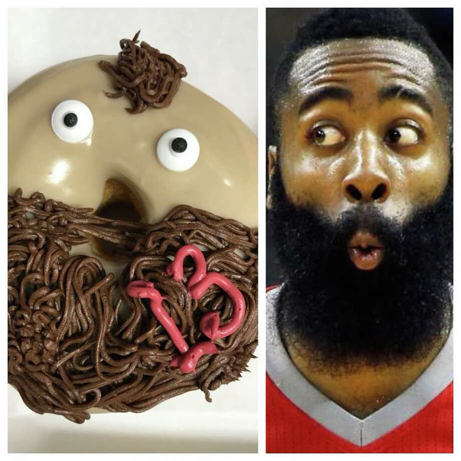 Houston's Peña's Donuts & Diner has created a James Harden-inspired donut in honor of the Rockets making it deep into the NBA playoffs. Photo: Peña's Donuts & Diner