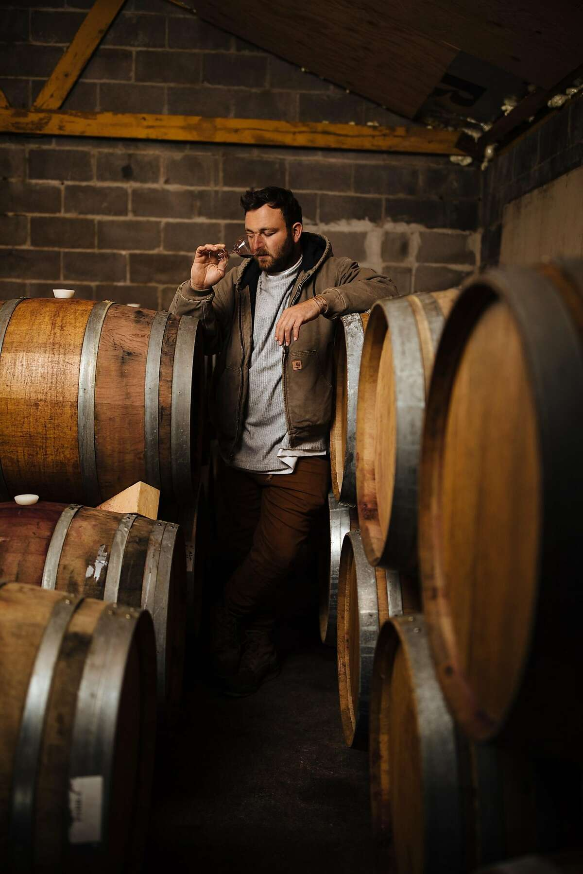 Owner and winemaker, Avi Deixler, photographed at Absentee Winery in Point Reyes Station, Calif., Friday, May 11, 2018.