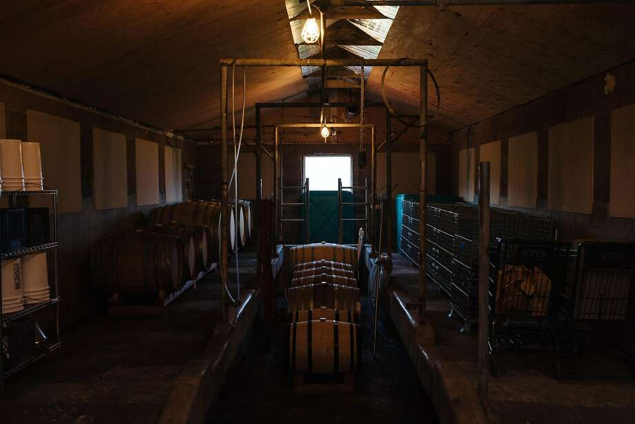 Absentee Winery, which Avi Deixler converted from a milking barn, photographed in Point Reyes Station, Calif., Friday, May 11, 2018. Photo: Mason Trinca / Special To The Chronicle