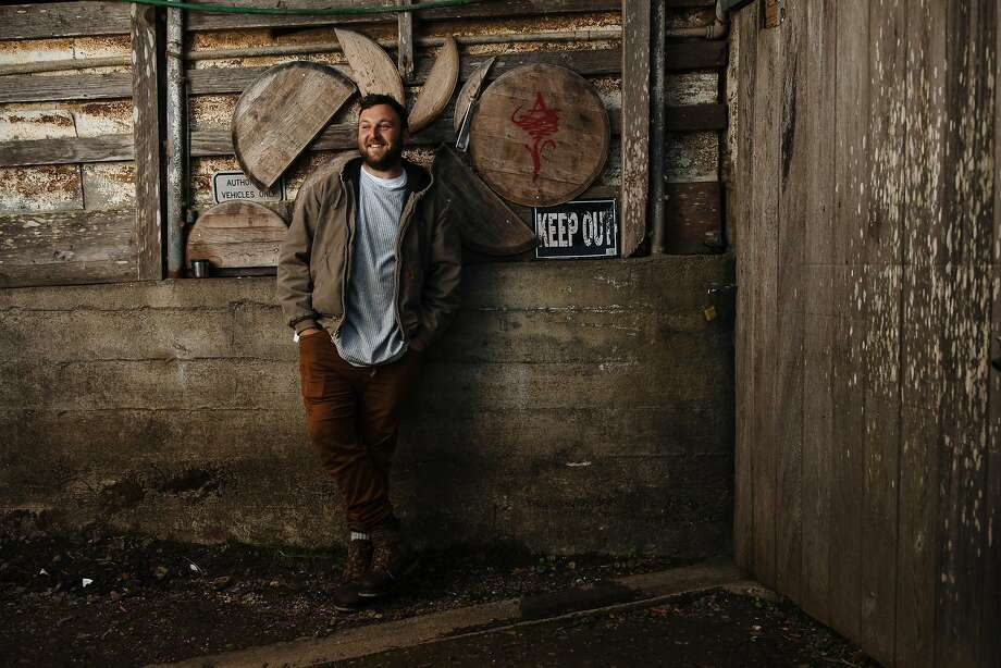 Owner and winemaker, Avi Deixler, photographed outside of at Absentee Winery, which he converted from a milking barn, in Point Reyes Station. Photo: Mason Trinca / Special To The Chronicle