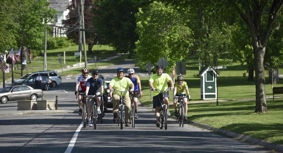 File photo of the second annual Bike to Work event in New Milford. Photo: H John Voorhees III / Hearst Connecticut Media / The News-Times