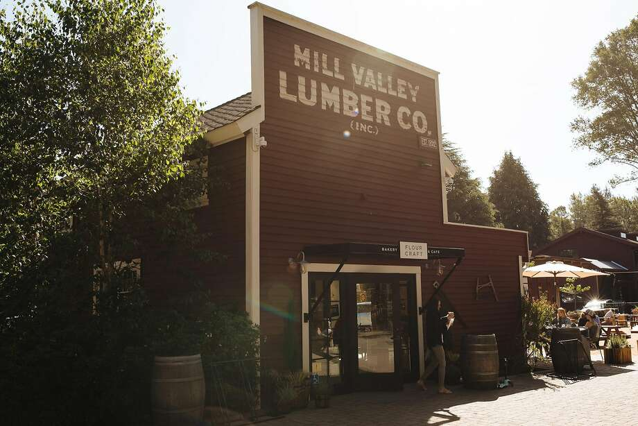 A facade at the revamped Mill Valley Lumber Yard. Photo: Photos By Mason Trinca / Special To The Chronicle