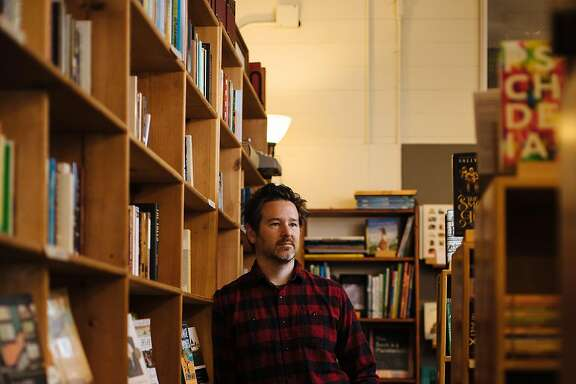 Stephen Sparks photographed at his bookstore, Point Reyes Books, in Point Reyes Station, Calif., Friday, May 11, 2018.