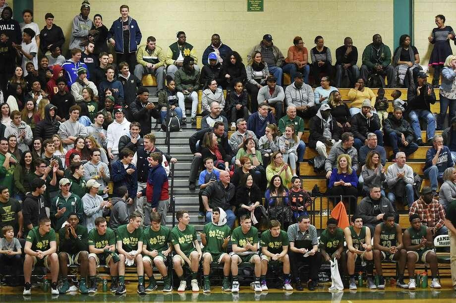 Hamden beat Notre Dame-West Haven, 67-62, Jan. 26, 2018, at Hamden High School gymnasium. Photo: Catherine Avalone / Hearst Connecticut Media / New Haven Register