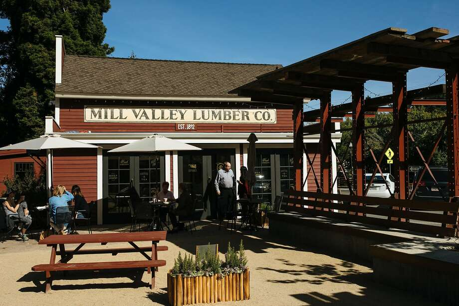 Outdoor seating at the Mill Valley Lumber Yard. Photo: Mason Trinca / Special To The Chronicle