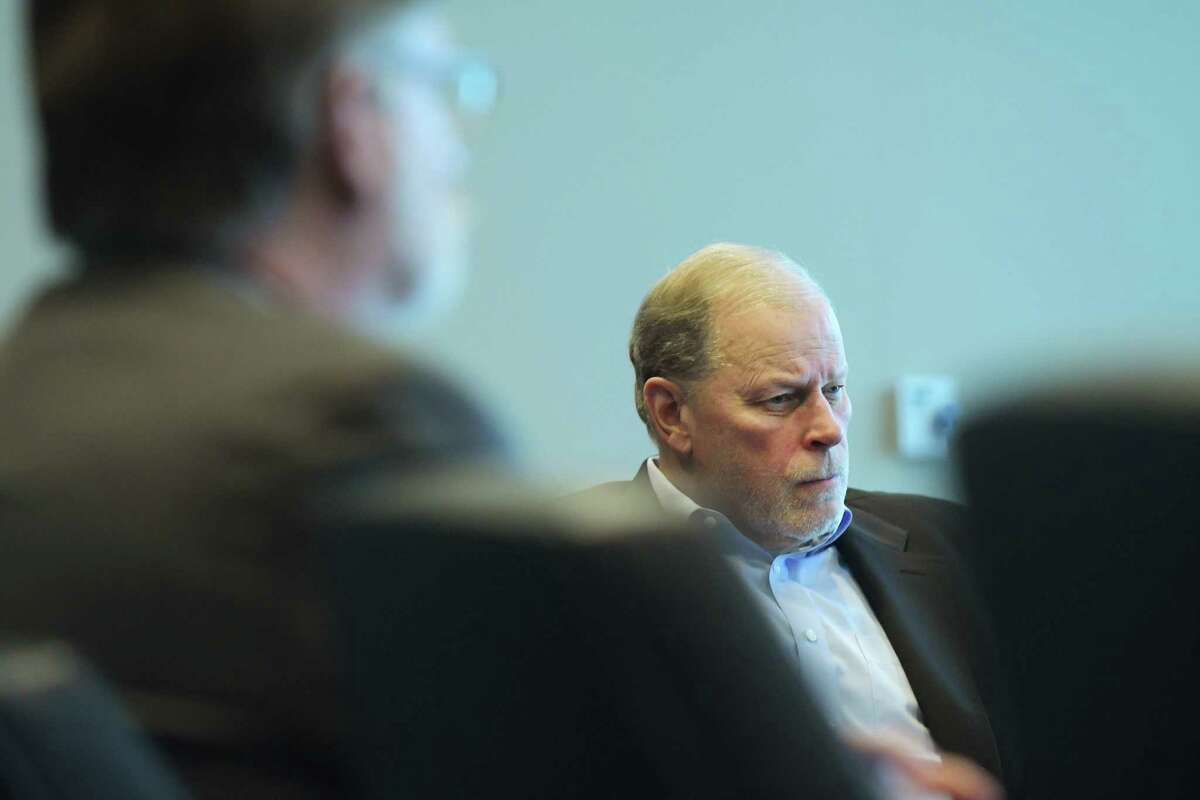Doug Grose at a NY CREATES board meeting in 2018 in Albany, N.Y. (Paul Buckowski/Times Union)
