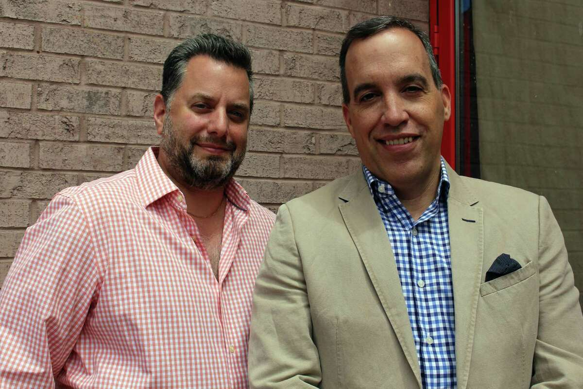David Snyder and Ted Vincent are preparing to open the new Brick Walk Tavern this summer.