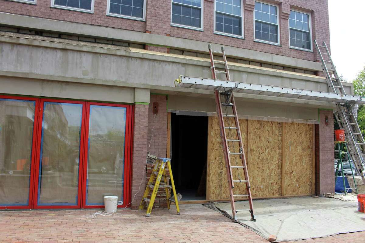 The Brick Walk Tavern at 1275 Post Road is under construction in the former Hana Tokyo and Bagel King locations.