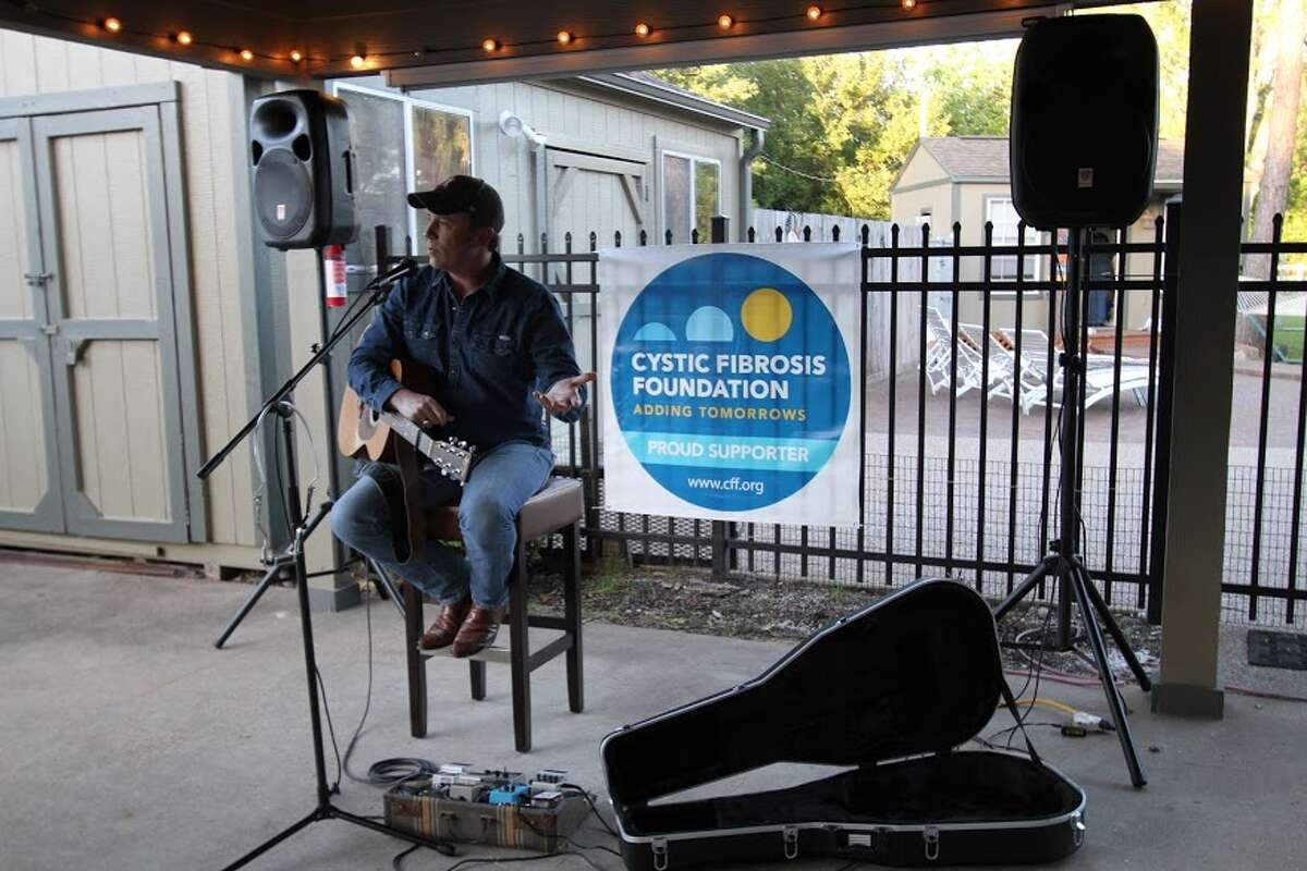 Kyle Hutton performs in April, 2018 at a Pearland House Concerts event that benefit local charities.