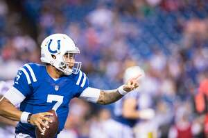ORCHARD PARK, NY - AUGUST 13:  Stephen Morris #7 of the Indianapolis Colts runs with the ball during the game against the Buffalo Bills on August 13, 2016 at Ralph Wilson Stadium in Orchard Park, New York.  Indianapolis defeated Buffalo 19-18.  (Photo by Brett Carlsen/Getty Images)