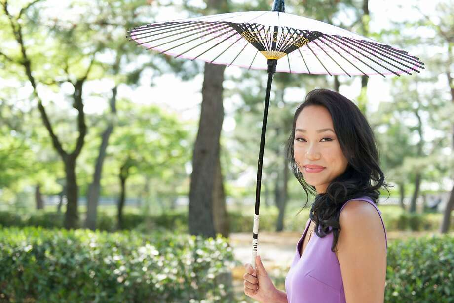 """Tatcha founder and CEO Victoria Tsai in Kyoto, Japan. Tsai has written her first book: """"Pure Skin: Discover the Japanese Ritual of Glowing"""" (Clarkson-Potter; 128 pages; $18). Photo: Courtesy Tatcha"""
