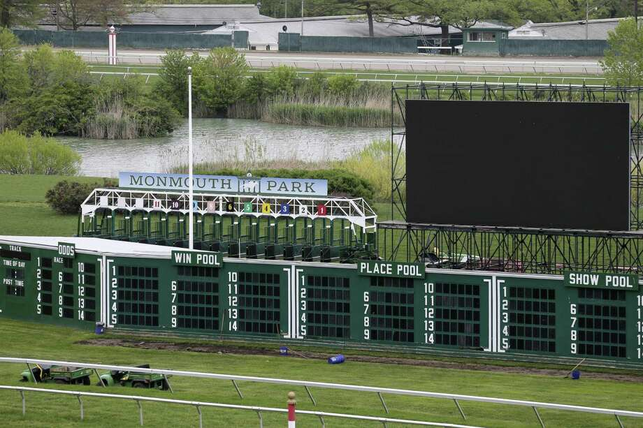 A view of Monmouth Park Racetrack in Oceanport, N.J., Monday, May 14, 2018. The Supreme Court on Monday gave its go-ahead for states to allow gambling on sports across the nation, striking down a federal law that barred betting on football, basketball, baseball and other sports in most states. (AP Photo/Seth Wenig) Photo: Seth Wenig, STF / Associated Press / AP