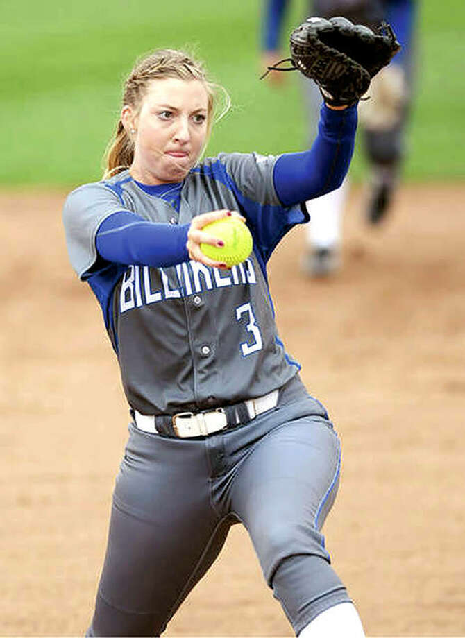 Saint Louis University's Maddie Baalman, a senior from Calhoun High School, was named to the Atlantic 10 Conference Softball Championship All-Tournament team. Photo:       SLU Athletics