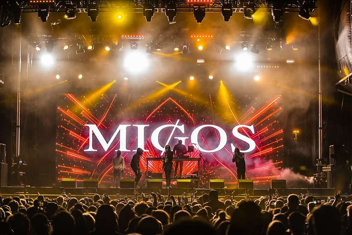 Migos performed at Blurry Vision Fest in Oakland on May 13, 2018.