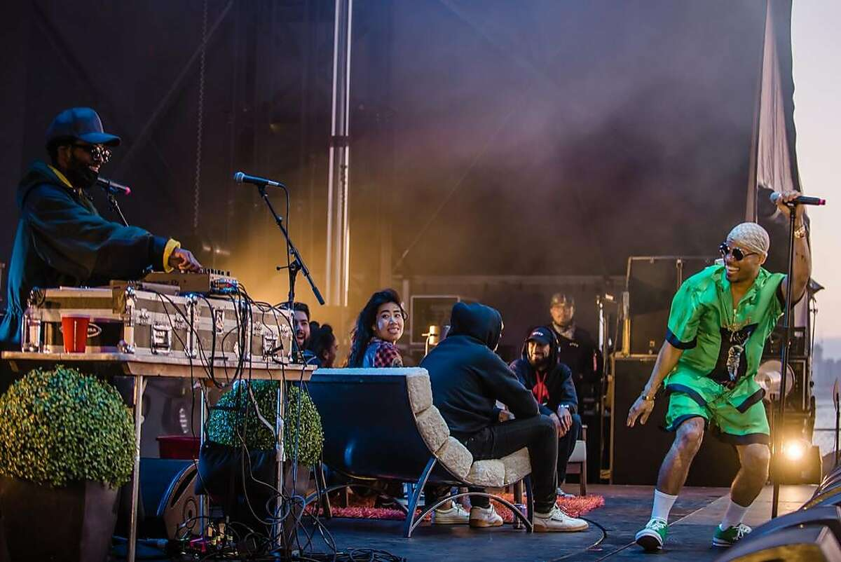 Knxwledge performed with Anderson .Paak as NxWorries at Blurry Vision Fest on May 13, 2018.