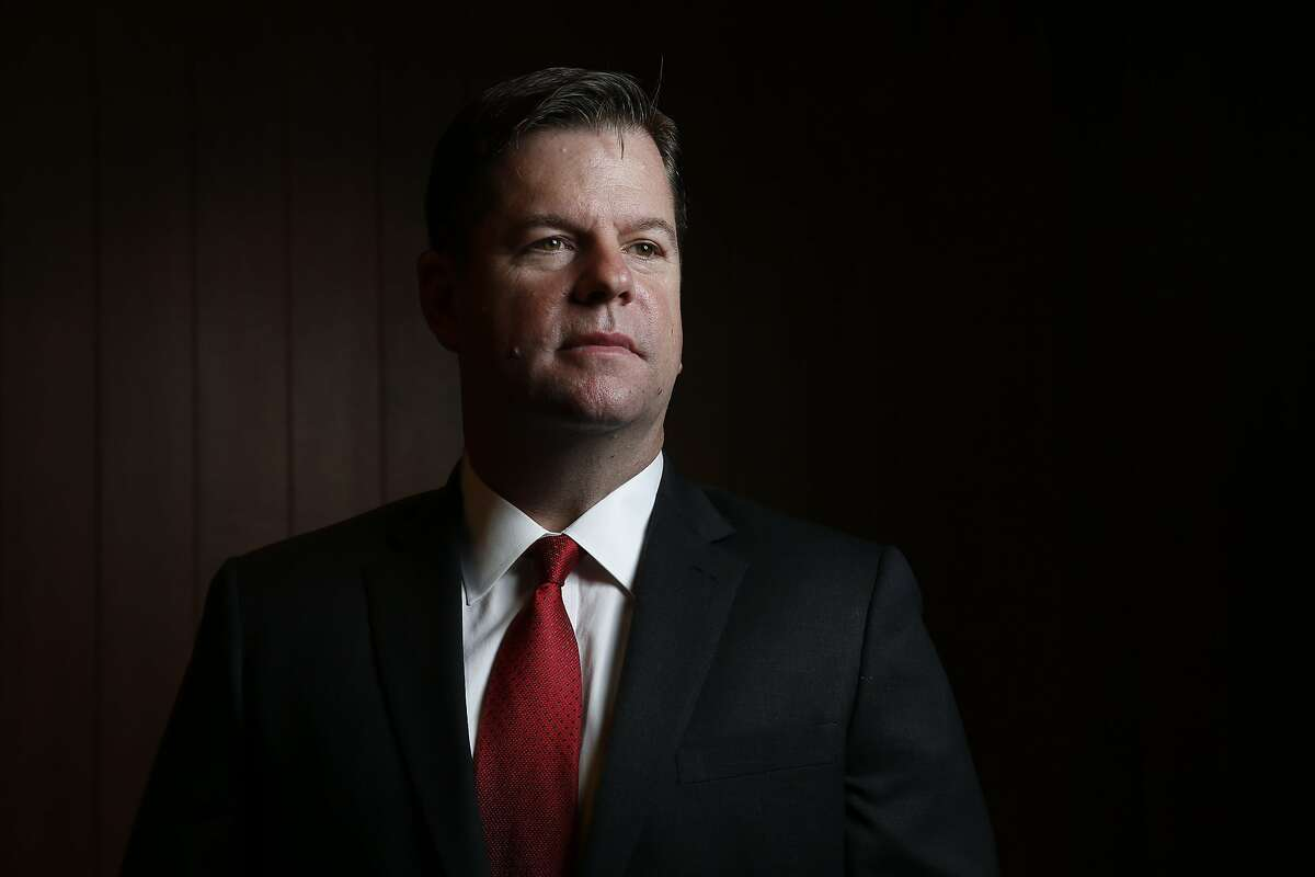 Interim Mayor Mark Farrell stands for a portrait at the San Francisco Chronicle, Wednesday, Jan. 31, 2018, in San Francisco, Calif.