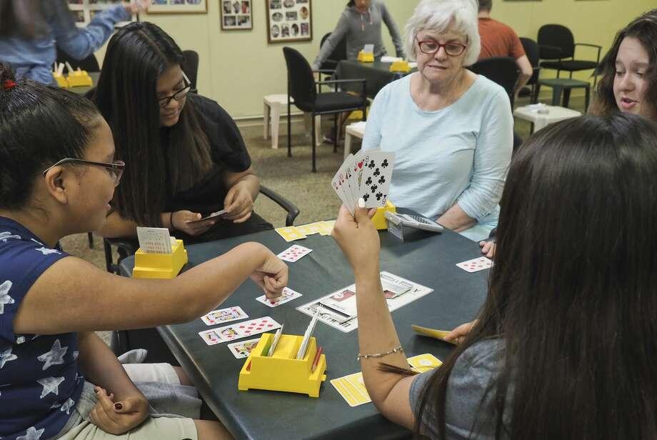 Greenwood students participate in a Bridge Tournament 05/09/18 afternoon at the Allison Bridge Center in Midland. Tim Fischer/Reporter-Telegram Photo: Tim Fischer/Midland Reporter-Telegram