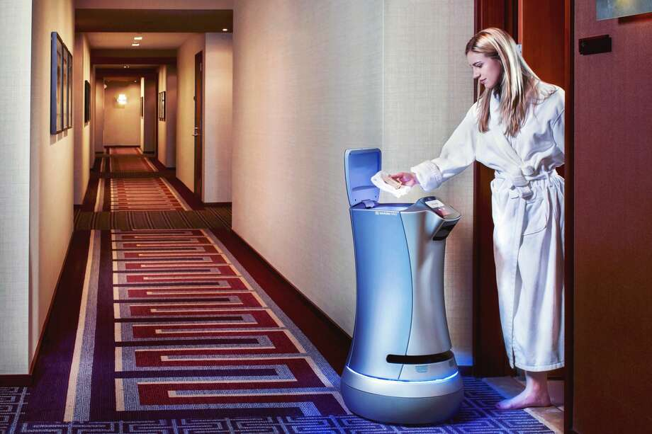 The Savioke Relay, a new robotic room attendant at Pioneer Square's Embassy Suites. Photo: Savioke