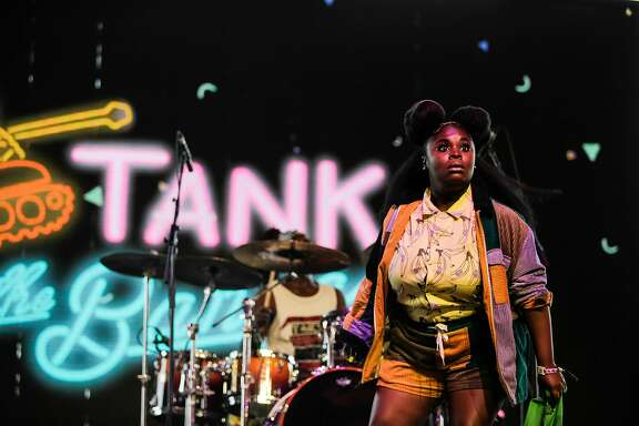 Tank and the Bangas perform during the final weekend of the Coachella Music and Arts Festival in Indio, Calif., on Friday, April 20, 2018. (Maria Alejandra Cardona/Los Angeles Times/TNS)