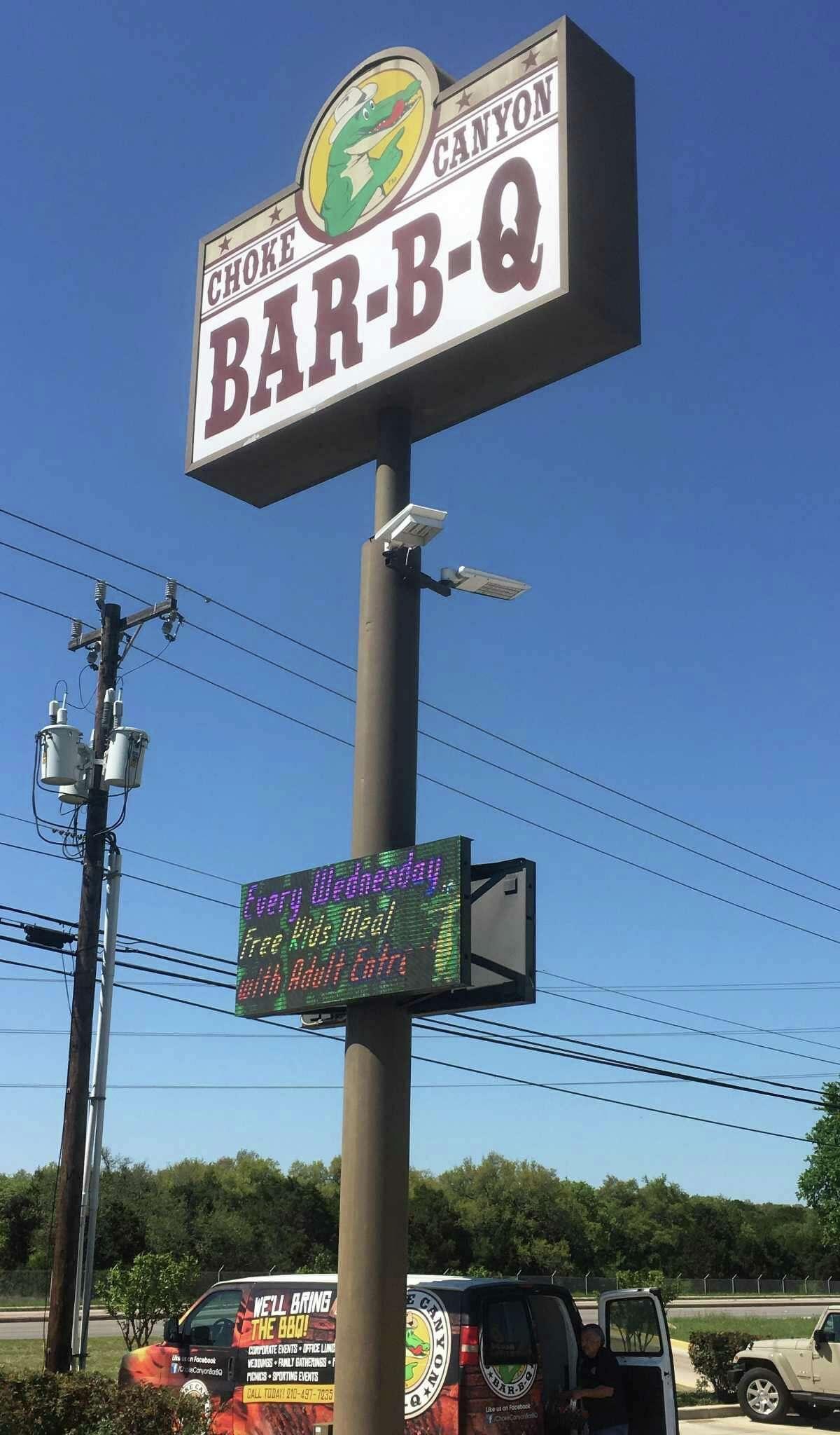 Choke Canyon Bar-B-Q, located at 21510 Blanco Road, serves a large area outside Loop 1604.