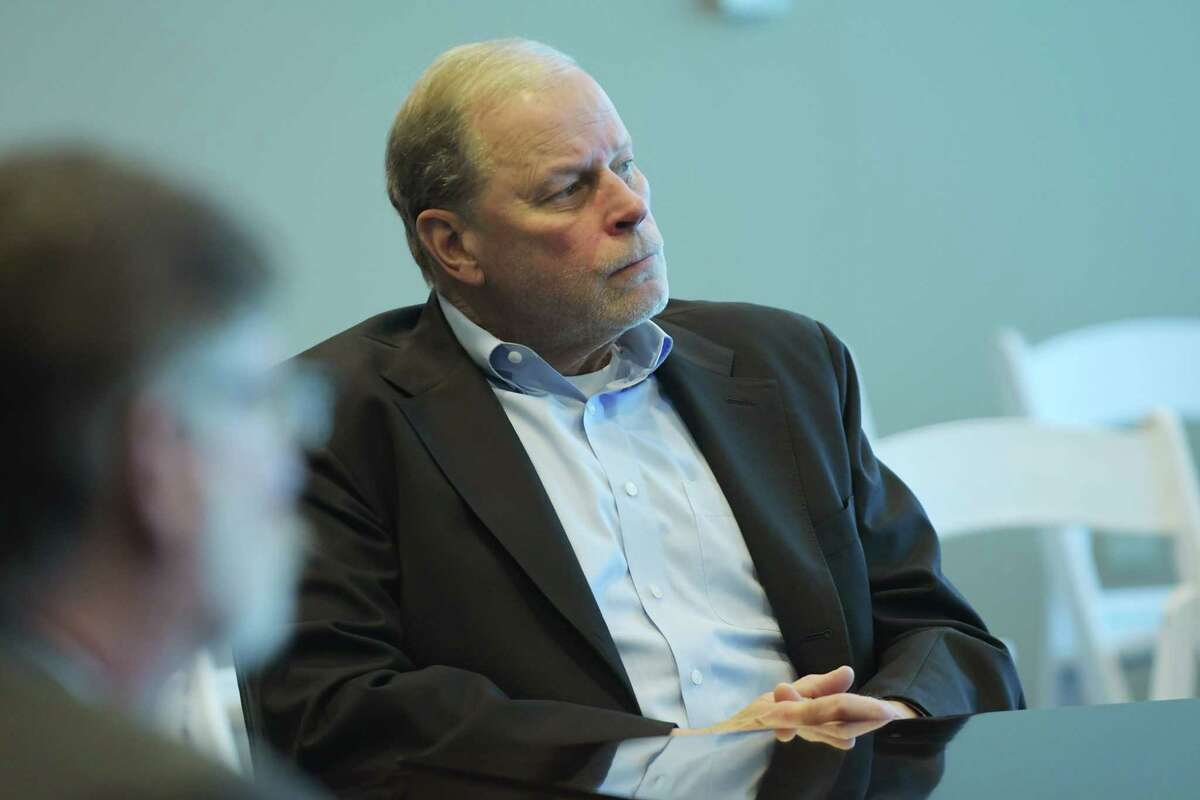 Doug Grose at an NY CREATESboard meeting in 2018, in Albany, N.Y. after being named president of the non-profit that oversees Albany Nanotech. Grose is retiring as president on June 30, 2021, but will become chair of the NY CREATES board.(Paul Buckowski/Times Union)
