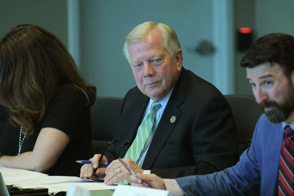 Robert Samson, member of the Fuller Road Management Corporation board, at a board meeting on Monday, May 14, 2018, in Albany, N.Y. (Paul Buckowski/Times Union)