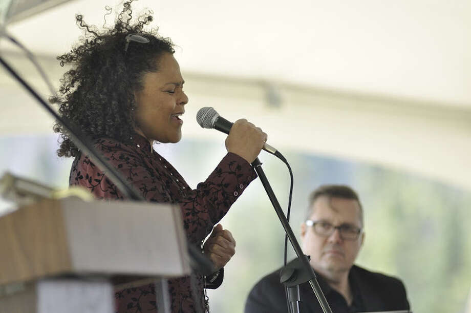 A May 5 event took place at the grave of 19th-century abolitionist John Brown following the annual John Brown Day celebration. Blues singer Dawn Tyler Watson performs at John Brown Day 2018, held at the John Brown Farm State Historic Site in Lake Placid. The annual event is sponsored by freedom education and human rights project John Brown Lives! (Ken Aaron)