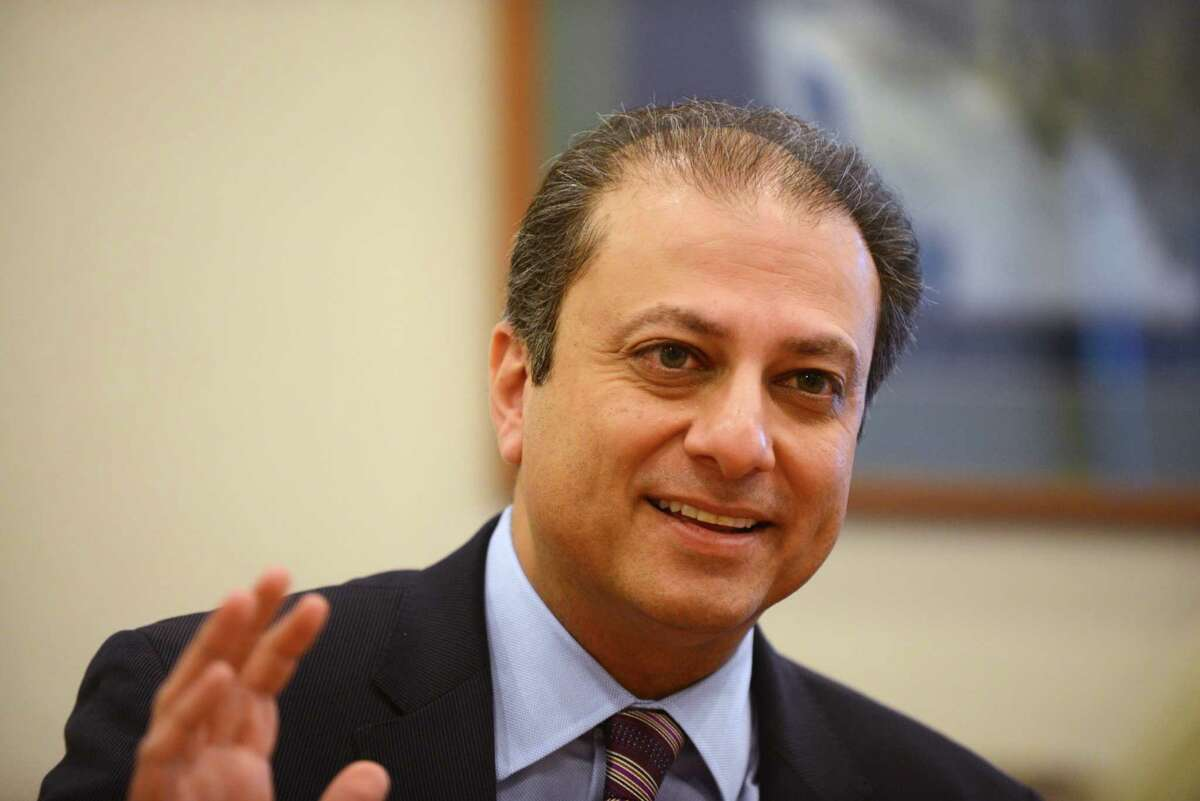 Preet Bharara, U.S. Attorney for the Southern District of New York, meets with the Times Union editorial board on Monday, Feb. 8, 2016, at the Times Union in Colonie, N.Y. (Will Waldron/Times Union)