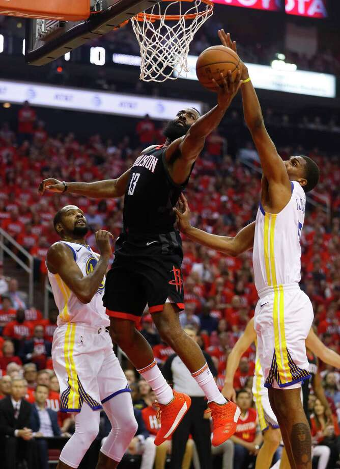 Houston Rockets guard James Harden (13) shoots during the first half in Game 1 of the NBA Western Conference Finals at Toyota Center on Monday, May 14, 2018, in Houston. Photo: Brett Coomer, Houston Chronicle / © 2018 Houston Chronicle