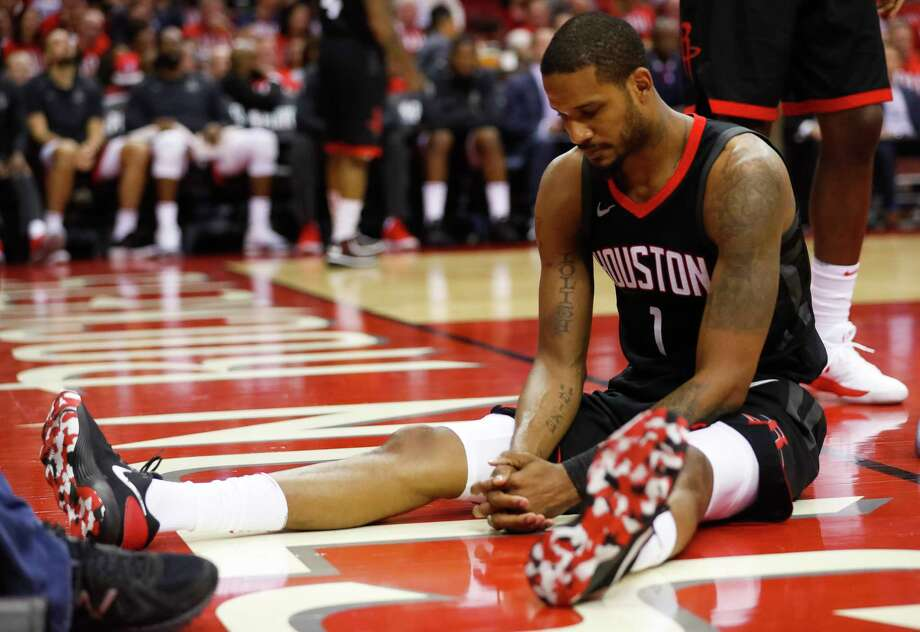 Trevor Ariza and the Rockets were left to ponder what went wrong after the Warriors came into Toyota Center and took Game 1 of the Western Conference Finals on Monday night. Photo: Brett Coomer, Houston Chronicle / © 2018 Houston Chronicle