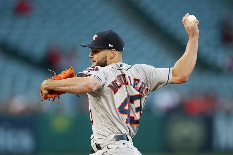 Astros starter Lance McCullers Jr. had fleeting success with his curveball in Monday's loss to the Angels. Photo: Jae C. Hong, Associated Press / Copyright 2018 The Associated Press. All rights reserved.