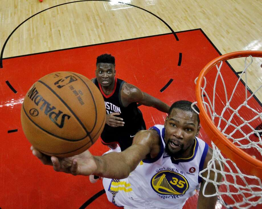 Kevin Durant Outduels James Harden As Warriors Take Game 1 Sfgate