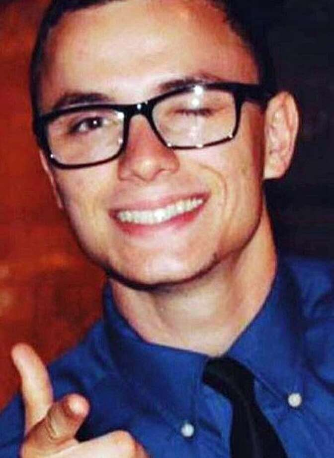 Funeral services have been set for Austin Buoni, the 22-year-old firefighter who was killed in a motor-vehicle accident in Fairfield Saturday, May 12, 2018. Police said Buoni was driving a 2005 Nissan Altima east on Kings Highway when he lost control of the vehicle at Chestnut Street. The vehicle, police said, slid across the eastbound lane before striking a utility pole off the right side of the road. The accident occurred about 1:40 a.m. Saturday. Photo: RvHtwKplEqjbjJwI+SjrSbFil47sDb0hZsZigaxDTcr0eZ1Uj6S90wiRjA3FBZWM0jjnl2RZPO7RunVeUzVffA==