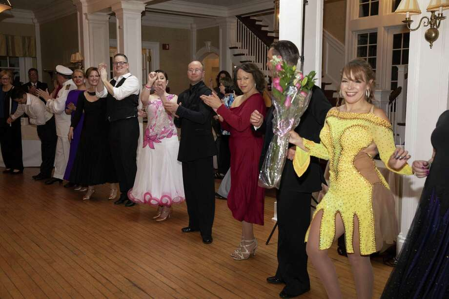 Gala dance contest winner Ivette Cabrera (far right) with fellow dancers. Photo: Contributed / Bridgeport Hospital