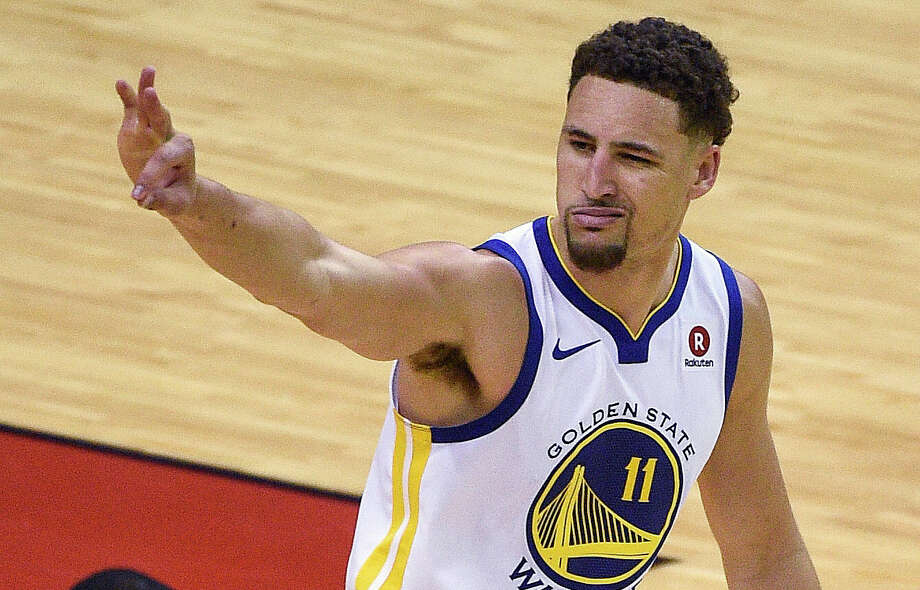 Click ahead to see reactions to Klay Thompson's 28-point performance against the Houston Rockets in Game 1 of the Western Conference finals.  Photo: Eric Christian Smith/Associated Press