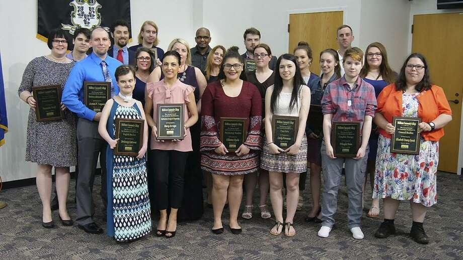 Twenty-five Middlesex Community College students were recognized for their academic achievements earlier this month. Photo: Contributed Photo