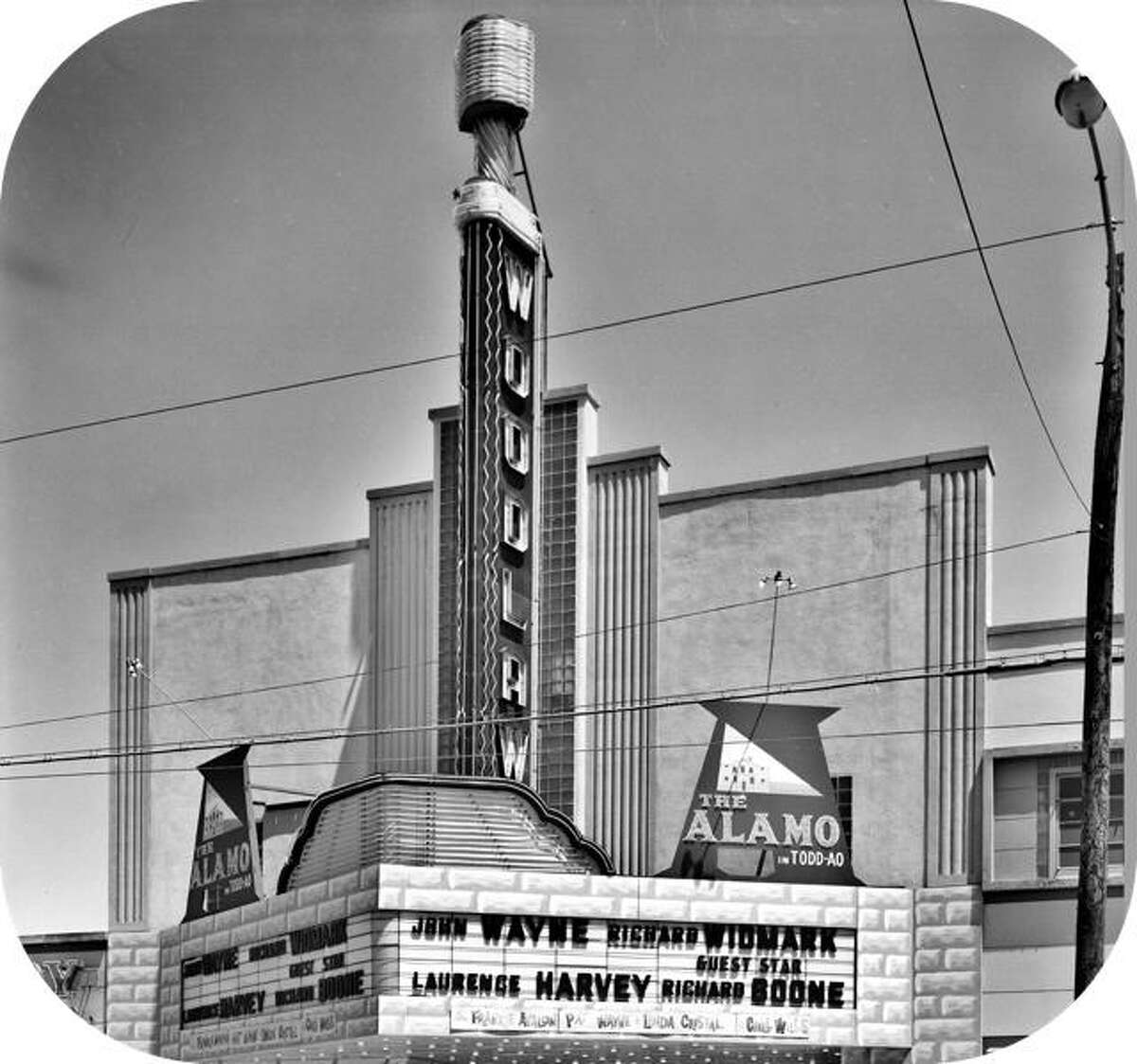 The Woodlawn Theater on Fredericksburg Road is seen in this undated courtesy photo provided by the Institute of Texan Cultures.