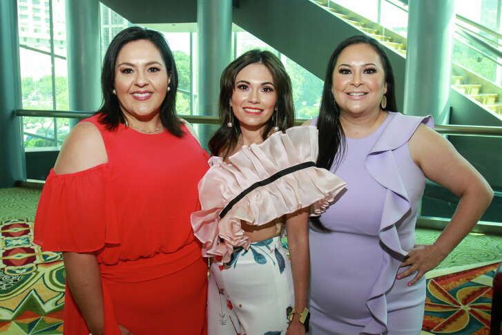 Susie Molina, from left, Michele Leal Farah and Vicki Luna at the Latin Women's Initiative luncheon. Michele is the president of the Latin Women's Initiative