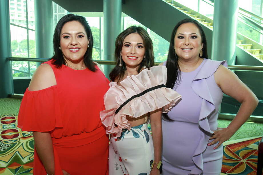 Susie Molina, from left, Michele Leal Farah and Vicki Luna at the Latin Women's Initiative luncheon. Michele is the president of the Latin Women's Initiative Photo: Gary Fountain, For The Chronicle / Copyright 2018 Gary Fountain