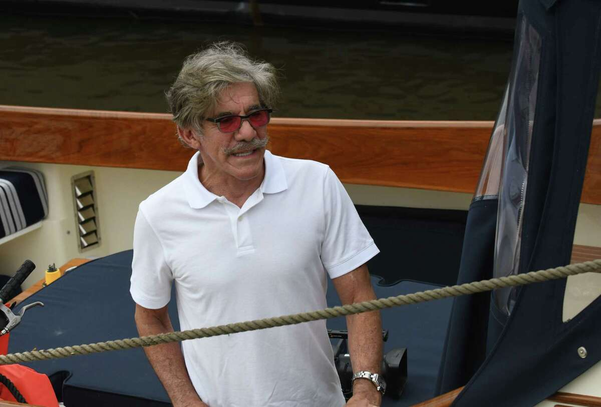 TV personality Geraldo Rivera was on the first boat to enter the Erie Canal at Lock 2 to begin the navigation season on Tuesday, May 15, 2018, in Waterford, N.Y. Rivera was sailing from New York to Cleveland. (Will Waldron/Times Union)