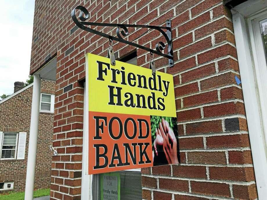 Friendly Hands Food Bank in Torrington. Photo: Emily Olson / Journal Register Co.