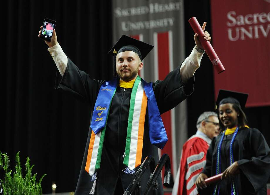 Sacred Heart University's graduation at the Webster Bank Arena in Bridgeport on May 15, 2016. Photo: Brian A. Pounds / Hearst Connecticut Media File Photo / Connecticut Post