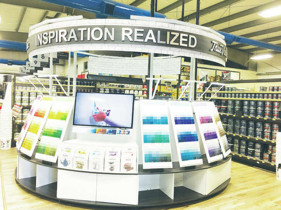 True Value, which has a distribution center in Harvard, Illinois, created Inspiration Realized. Alton's St. Peters Hardware installed the Inspiration Realized system last week. Photo:       Jill Moon|The Telegraph